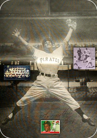 Image: An ecstatic Clemente celebrating one of many successful games.