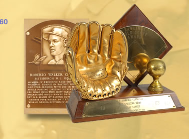 Image: Clemente earned 12 Gold Glove Awards for his amazing fielding ability.